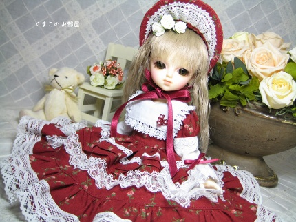 幼SDサイズの赤いドレス
