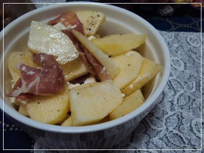りんご・生ハム・クリームチーズ