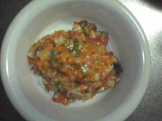 トマトとなすのミートーソース