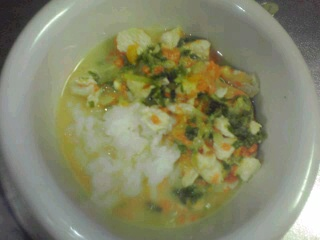 かぼちゃの豆乳スープご飯