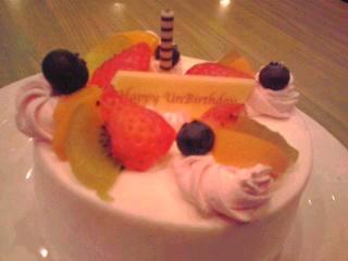 アンバースデーケーキ☆