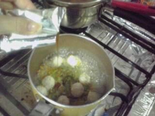 調理中~。