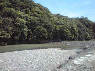 平日の河原。