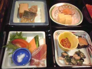 黒川温泉の朝食。