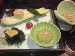 黒川温泉の夕食。