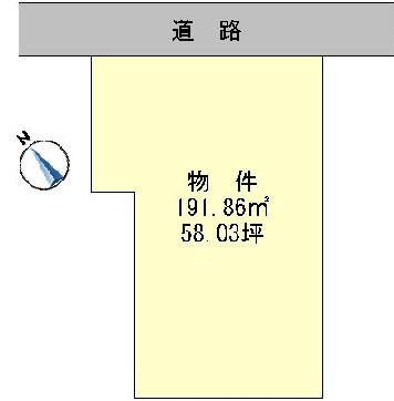 水戸市吉沢町 区画図