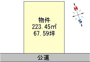 水戸市見川5丁目 売地 区画図