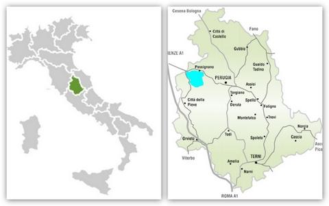 umbria mappa