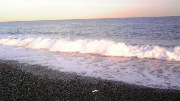 ひすい海岸で