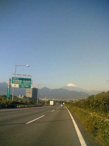 東名高速大井松田ICからの富士山