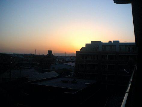 夕日も素晴らしい~!