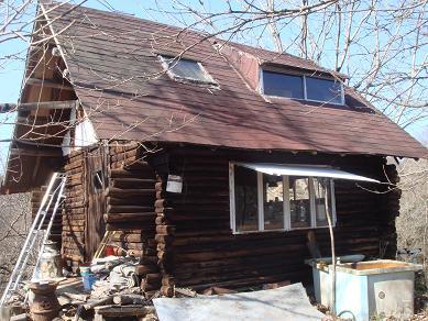 冬の山小屋
