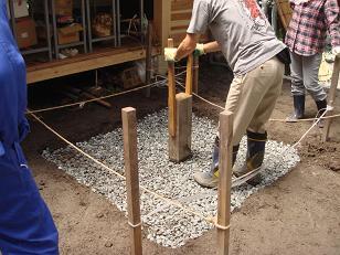 石窯の基礎造り
