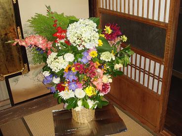 おばさんからの花束