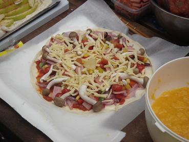 きのこピザ