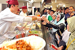 京大食堂 イスラム圏の人用のハラール食