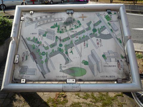 白鷺駅前の案内図