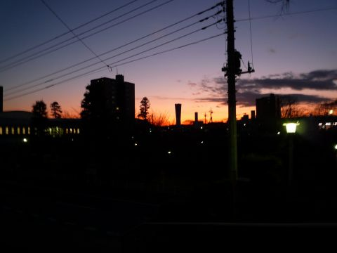 花見川団地の夕暮れ
