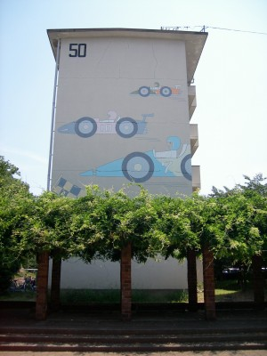 公団中宮第3団地の住棟壁画3