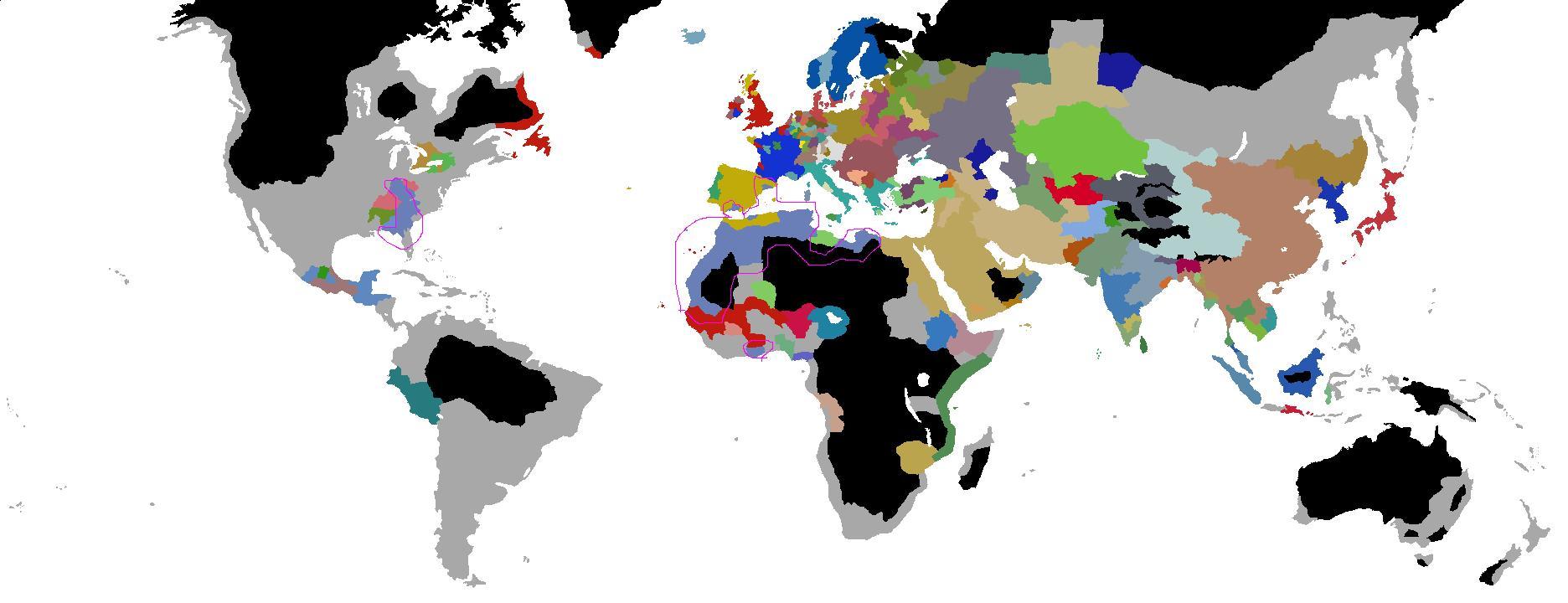 ヨハネ1940年代の世界図