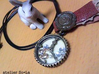ネックレス うさぎ時計-1