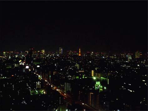 キャロットタワーからの夜景