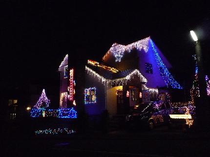 クリスマスのデコハウス