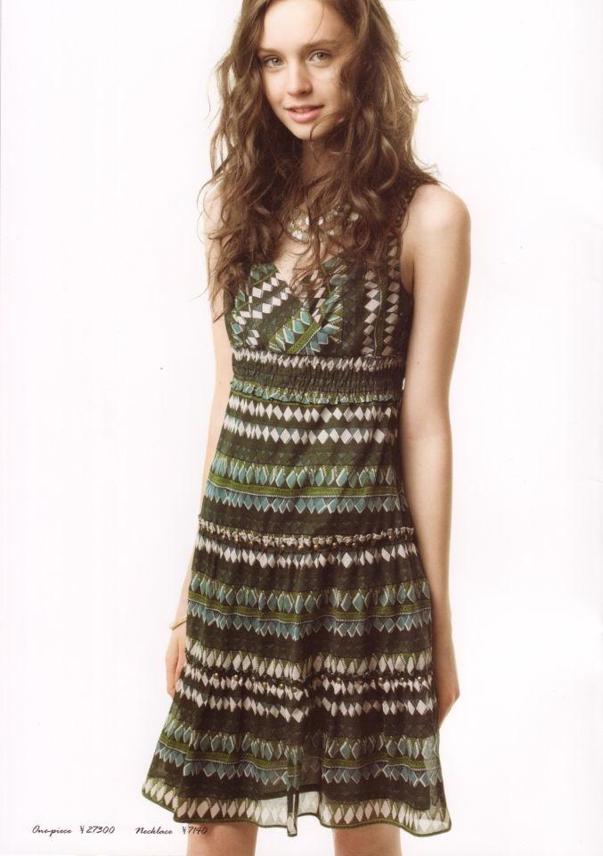 LOUNIE(ルーニィ)通販:2009夏物公式カタログ(2):CLASSY.5月号掲載のボーダーハイウェストワンピースで夏気分!