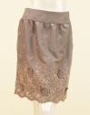 ★LOUNIE(ルーニィ)ポリエステルスウェード+パネル花柄刺繍スカート【送料無料】★