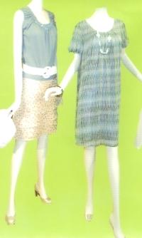LOUNIE(ルーニィ)通販-2009春物展示会一番気になっているワンピースはこちら!細かいプリントと立体生地がポイント!