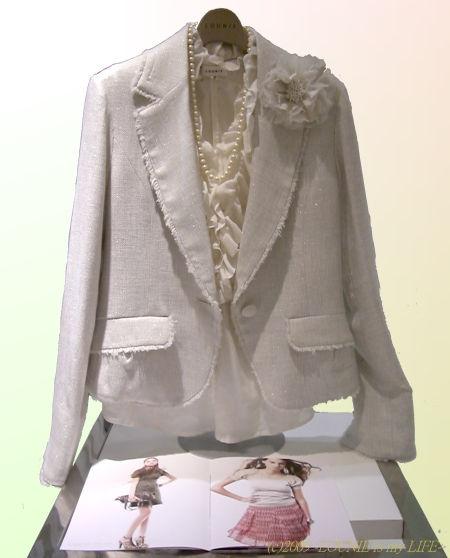 OUNIE(ルーニィ)通販:2009春:入学式に!上質・高級感のあるツイードジャケットは上品な輝き!