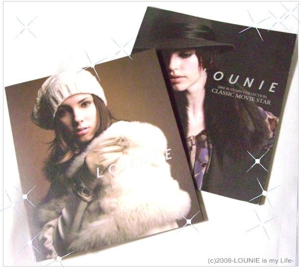 LOUNIE'08秋冬カタログ(キラキラJPGver)
