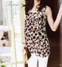 LOUNIE(ルーニィ)通販:CLASSY.(クラッシィ)5月号(2009年)掲載のルーニィ!「ルーニィでゆるくかわいく品も良く」スタッズ使いのプリントチュニックでクールな女らしさを。