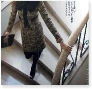Oggi11月号_LOUNIE冬物特集(ヨンア)ツイードスーツ