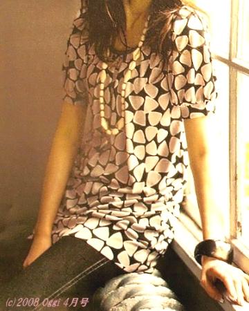 LOUNIE(ルーニィ)通販:Oggi(オッジ)2008年4月号掲載のLOUNIE'08春物石ころチュニック