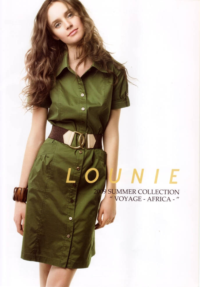 "LOUNIE(ルーニィ)通販:2009夏物公式スペシャルカタログ(1):LOUNIE 2009 SUMMER COLLECTION ""VOYAGE -AFRICA-"""