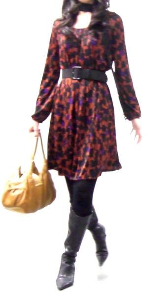 LOUNIE(ルーニィ)-2008秋冬LOUNIE×CLASSY.コラボ柄ワンピ_ストール風2