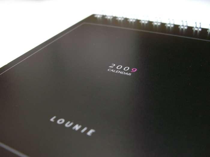 LOUNIE(ルーニィ)2008冬全員ノベルティ:卓上カレンダー3