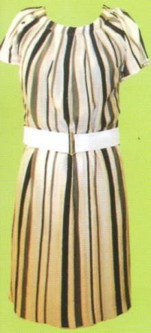 LOUNIE(ルーニィ)通販-2009春物展示会一番人気のワンピースはこちら!この春ストライプはかかせない♪レトロな雰囲気がかわいい