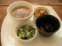 cafe Rice ランチセットのデリハーフ3種