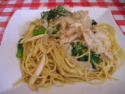 白魚と菜の花の和風スパゲティー