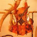 ハンドメイドバッグ gragra巾着アートバッグ
