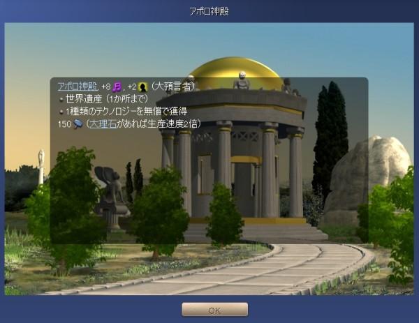 アポロ神殿の効果