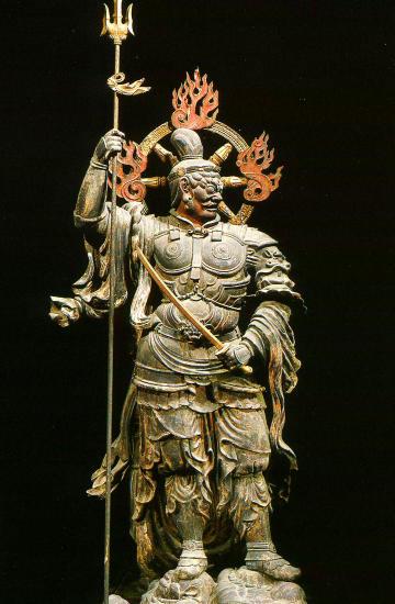 東寺の増長天立像 : 仏を位の高...