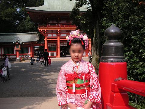 氷川神社にて