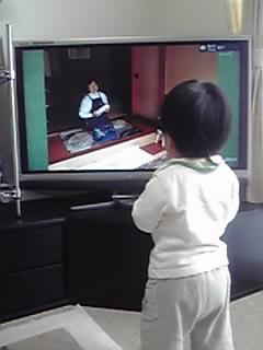 息子とテレビ