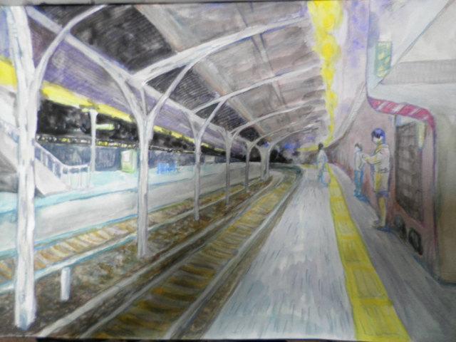 深夜の池袋駅