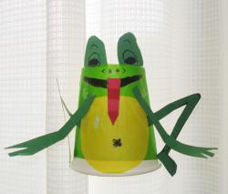 蛙の糸電話