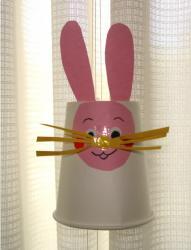 ウサギの糸電話