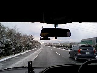 車窓からの冬